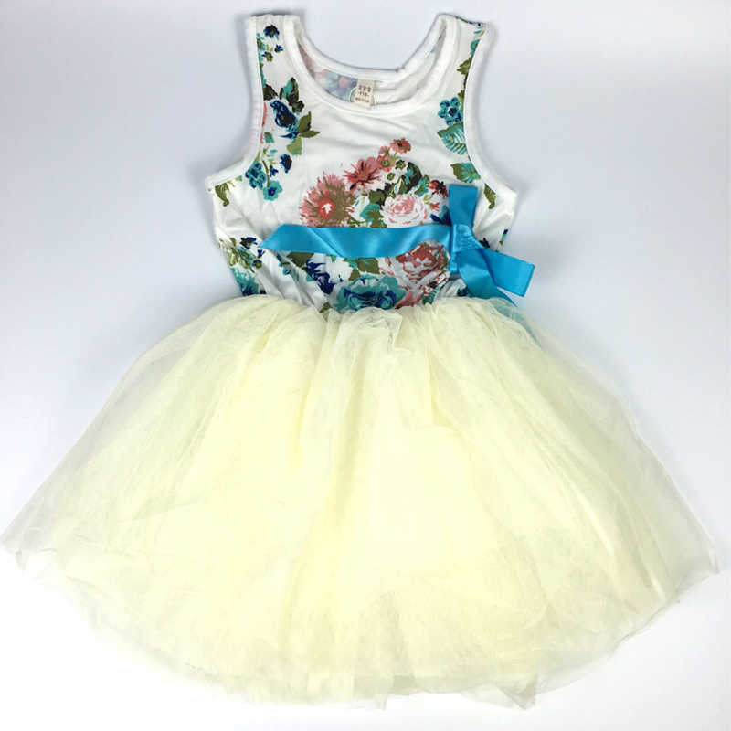 Baby Girl Flower Dresses Infant Chiffon Lace Candy Color Tutu Dress Kids Clothes Princess Dress for Girls Birthday Costumes
