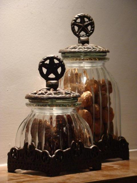 Texas Star American Home Decor Canister Storage Container Glass Candy Jar Continental Nostalgic Ornaments