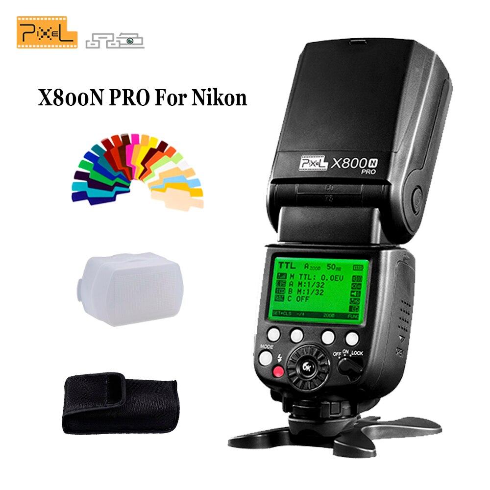 Pixel X800N Pro Flash Speedlite Pour Nikon d7100 d3100 d5300 d7000 d90 d750 I-TTL HSS Haute Vitesse Sync Flash Externe Vs YN568EX