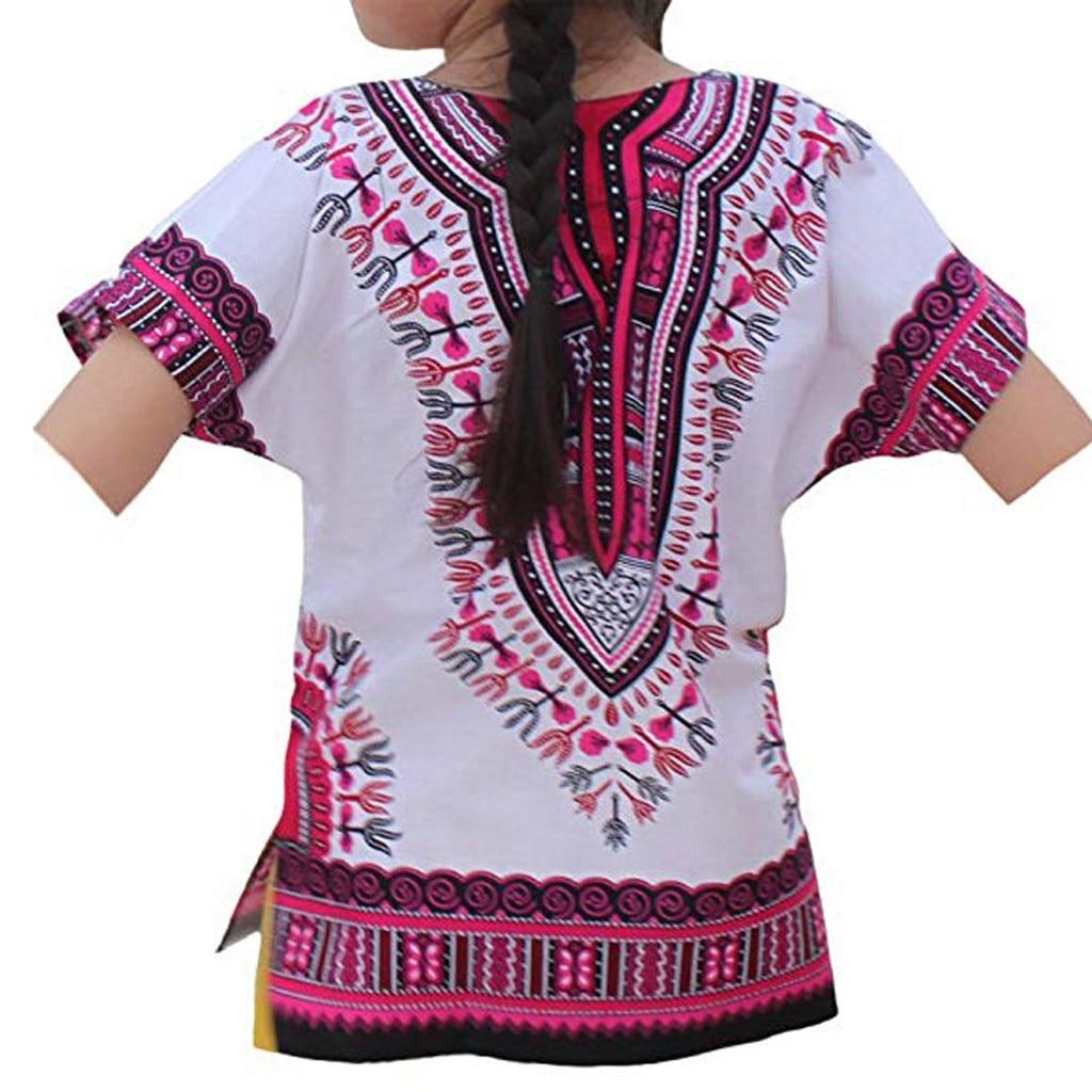 2019 Sommer Nationalen Stil Junge Mädchen Kinder Baby Unisex Helle Afrikanische Farbe Kind Dashiki T Shirt T Tops Gedruckt T-shirt Produkte HeißEr Verkauf