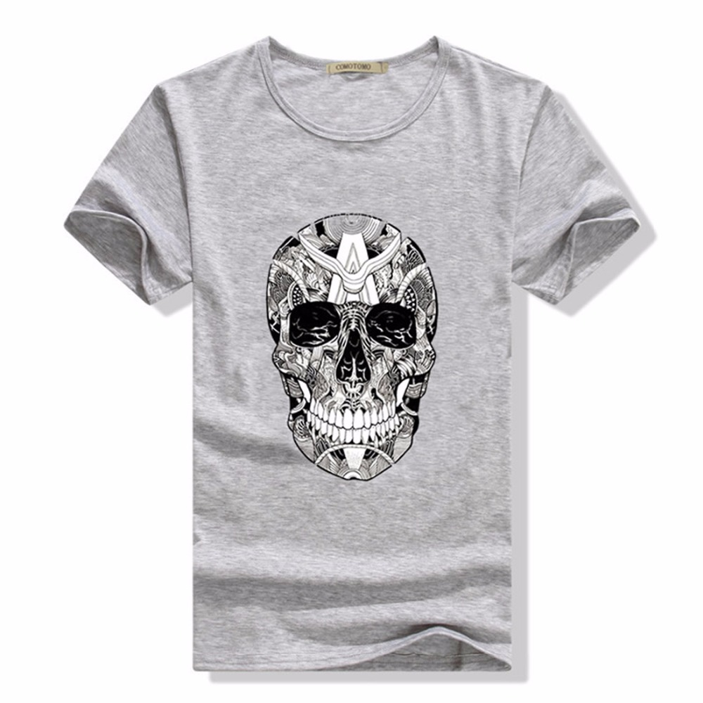 short sleeve t shirt men tete de mort homme de marque summer fashion casual 21 kinds of printed. Black Bedroom Furniture Sets. Home Design Ideas