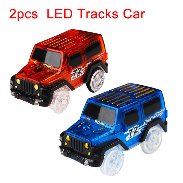 2pcs glow racing track led light track car led light electronics car 2pcs glow racing track led light track car led light electronics car tracks toy parts for mozeypictures Image collections