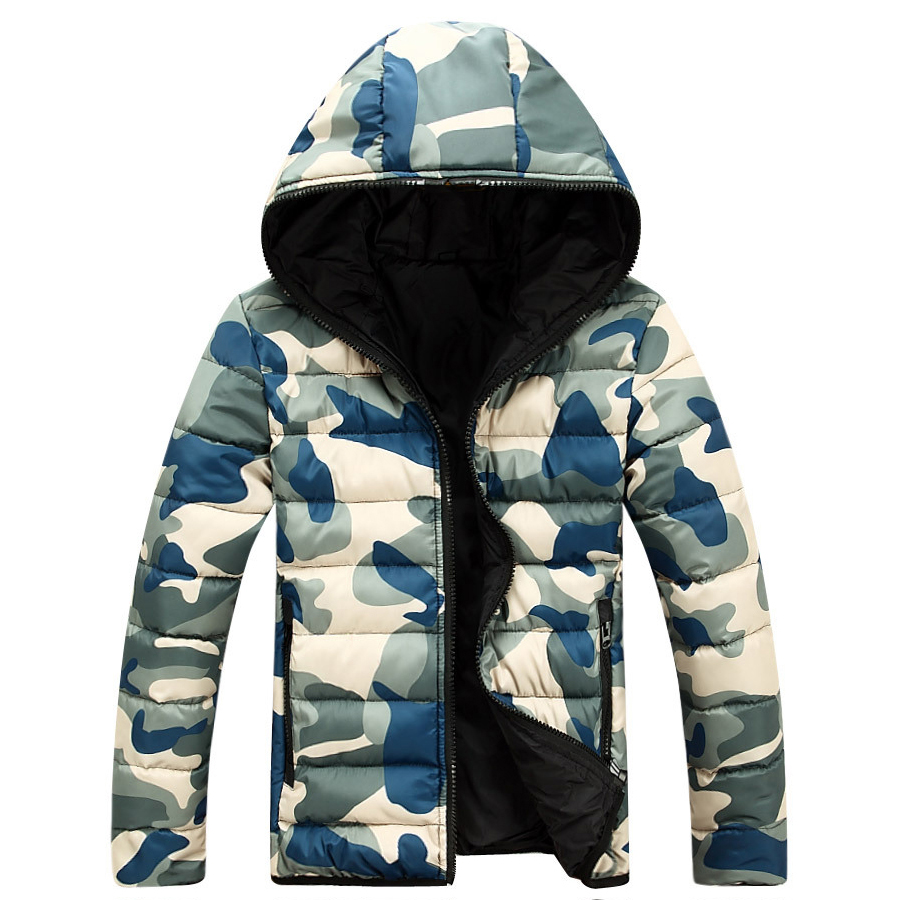 2019 New Camouflage Winter   Down   Jacket   Coats   Mens Doudoune Homme Hiver Marque With Hood Men Jackets Thick Fashion   Coat