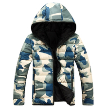 2019 New Camouflage Winter Down Jacket Coats Mens Doudoune H