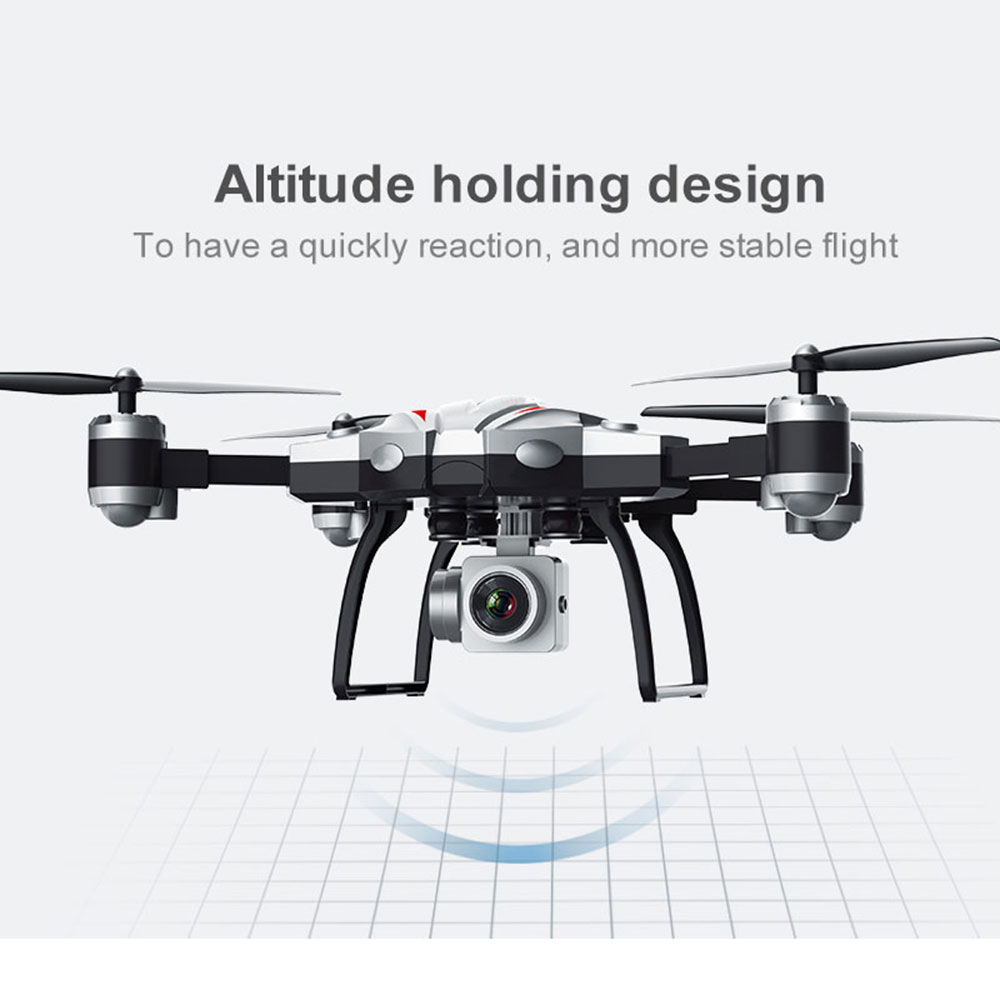 Cewaal Foldable 2.4GHz Hover Helicopter 360degree Rolling Aircraft Professional Headless Mode Quadcopter Stable Gimbal Drone stable