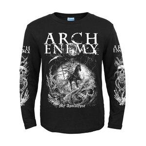Image 2 - 5 дизайнов, шведская группа Arch Enemy, 3D череп, рыцарь, рок, бренд, для мужчин и женщин, рубашка с длинным рукавом, тяжелый металл, панк, иллюстрация, футболка