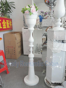 110cm Tall 10pcs/lot Wedding White road lead metal flower Vase Stand Wedding Props