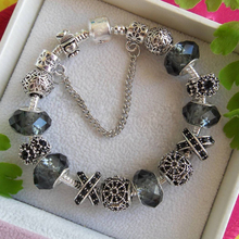 Glass Beads Silver Bracelets