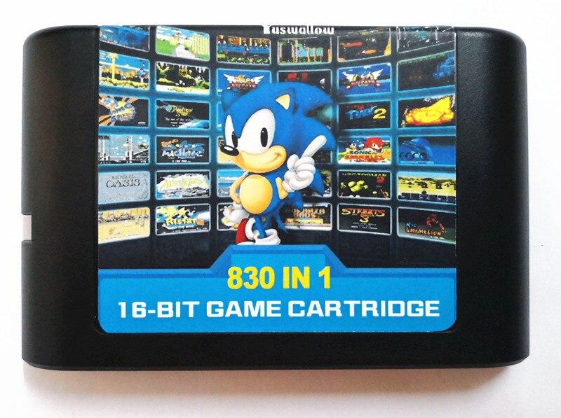 2018 The newest 830 In 1 DIY Mega Drive / Genesis Contra Castlevania Super Street Fighter II 16 Bit Game Card