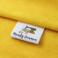 Custom Sewing label, Handmade Tags, Custom kids Name Labels,Cotton Ribbon labels, Logo Labels(MD0019)