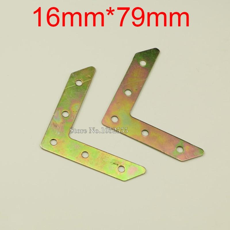 10PCS 16*79mm metal furniture corners angle bracke...