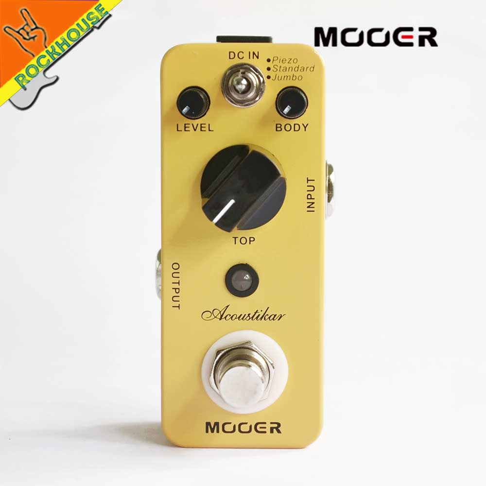 MOOER Acoustikar Acoustic Guitar Simulator Effects Pedal get Acoustic guitar tone with Electric Guitar True Bypass Free Shipping mooer ensemble queen bass chorus effect pedal mini guitar effects true bypass with free connector and footswitch topper