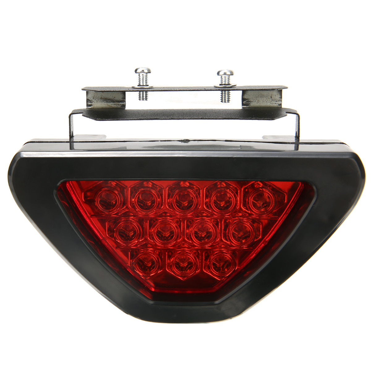 Image 1 - For Car Truck Brake Lights Universal F1 Style 12 LED Red Rear Tail Third Brake Stop Light Safety Signal Lamp-in Signal Lamp from Automobiles & Motorcycles