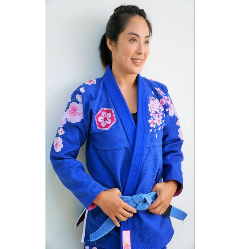 ladies BJJ kimonos sunrise sakura brilian jiu-jitsu gi girl's 100% cotton bjj gi for women image