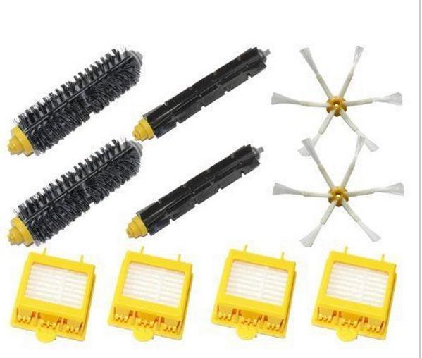 4 Hepa Filter + 2 set hair Brush kit + 2 side brush kit for iRobot Roomba 700 Series 760 770 780 790 vacuum cleaner accessories