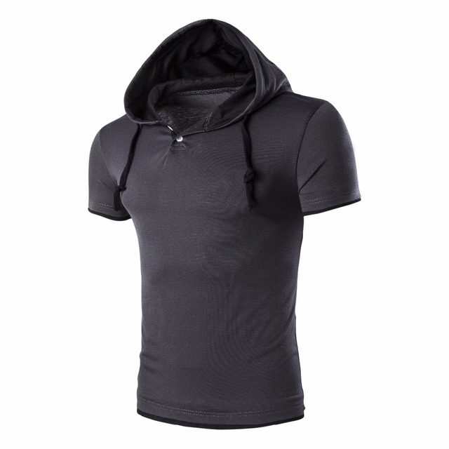 Men's Stylish Hooded Cotton T-shirt