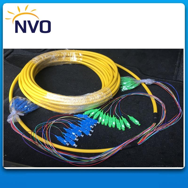 SM,24core,G652D,50cm from Cable to Connector,Length:10M,PVC Jacket,SC/APC-SC/UPC Bundled Distribution Fiber Optic Patch CordSM,24core,G652D,50cm from Cable to Connector,Length:10M,PVC Jacket,SC/APC-SC/UPC Bundled Distribution Fiber Optic Patch Cord