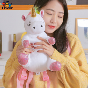 Image 4 - Cute Kawaii Unicorn Backpack School Shoulder Bag Bookbag Plush Toy Triver Baby Kids Children Girl Boy Girlfriend Student Gift