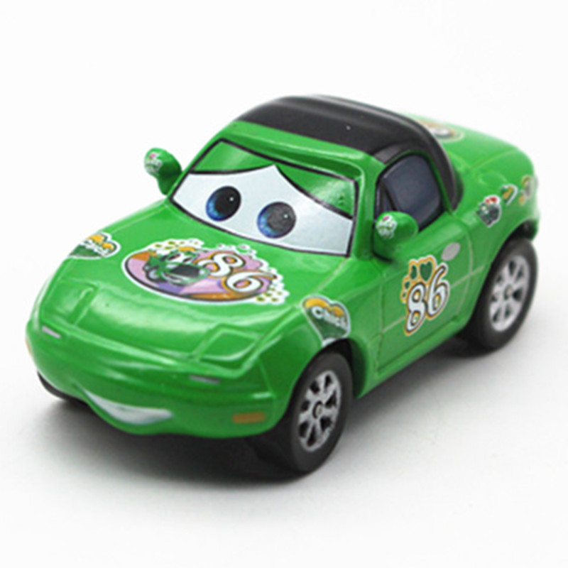 Mini Metal Cast Green No 86 Painting Mcqueen Toy Car 1 55 Cartoon Movie Disney Pixar Cars 2 Alloy Racing Model