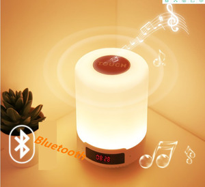 Image 4 - Kuliai night light com bluetooth speaker, SHAVA portátil sem fio bluetooth speaker touch control LED color night light