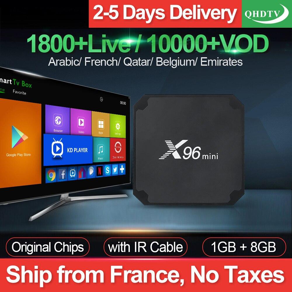 X96 Mini IPTV France arabe QHDTV 1 an IPTV Code Android 7.1 1G 8G français belgique maroc pays-bas IP TV X96mini Android Box