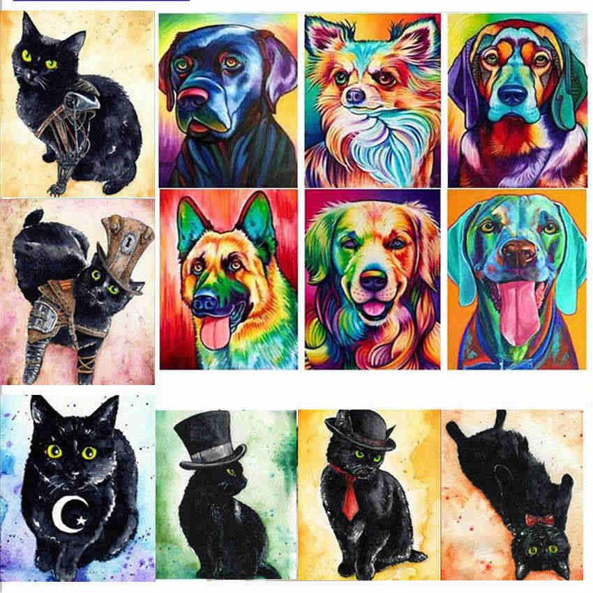 Diy 5D elmas nakış karikatür 5d elmas mozaik köpek elmas boyama hayvan popüler elmas boyama büyük hediye aile için