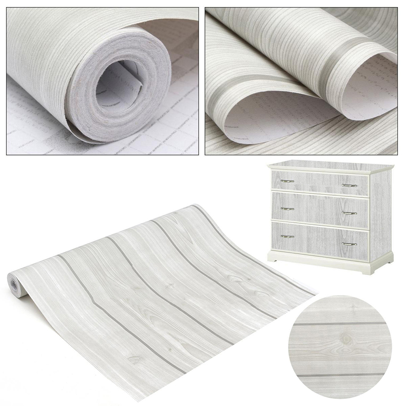 Buy 10m wood grain peel stick contact for Furniture decoration paper