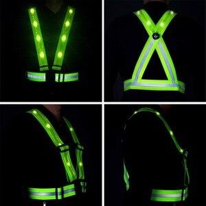 Image 4 - ריצה LED בטיחות רעיוני אפוד USB טעינה גבוהה ראות להתאמה גודל ציוד ריצה כלב הליכה אופנוע בתנועה