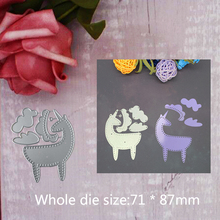 71*87mm Animal Dies New 2019 Metal Cutting for Scrapbooking  stitch Embossing DIY Album and stamps Craft Card