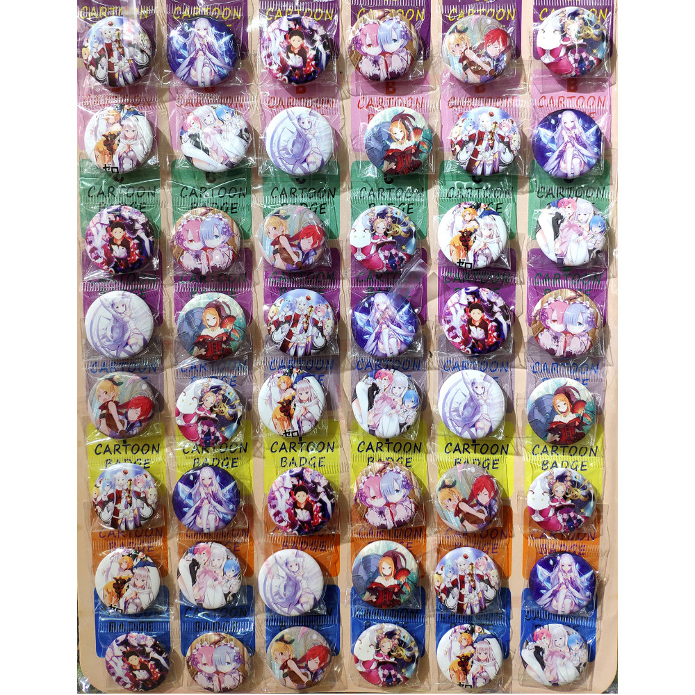 Love Thank You Re Zero Starting Life In Another World Ram Rem 30MM 48pcs Lot PINBACK BADGE BUTTON BROOCH BAG GIFT TOY Anime