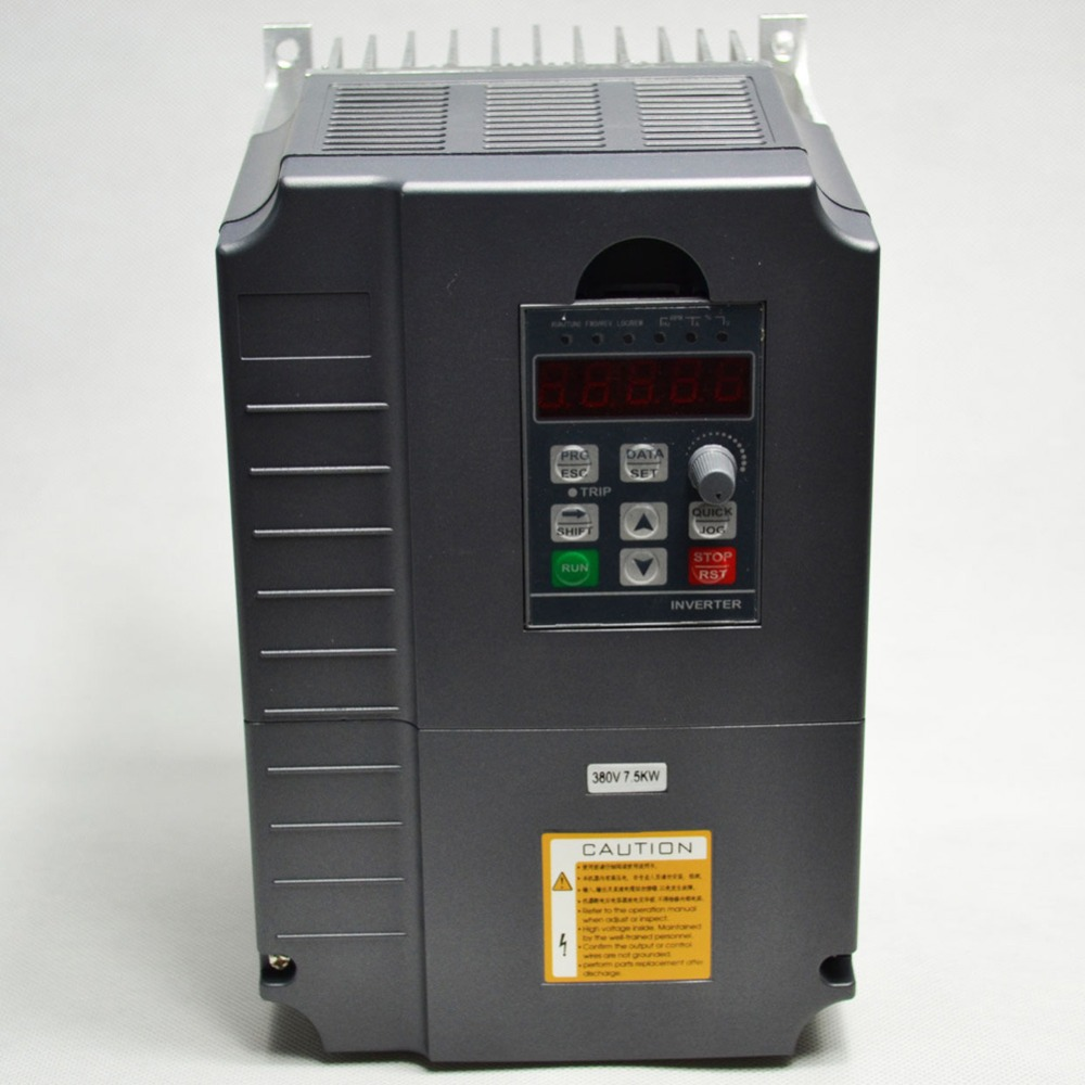 цена на frequency Inverter 7.5kw 380V 19A variable frequency drive inverter 3 phase input 3 phase output motor speed controller vfd