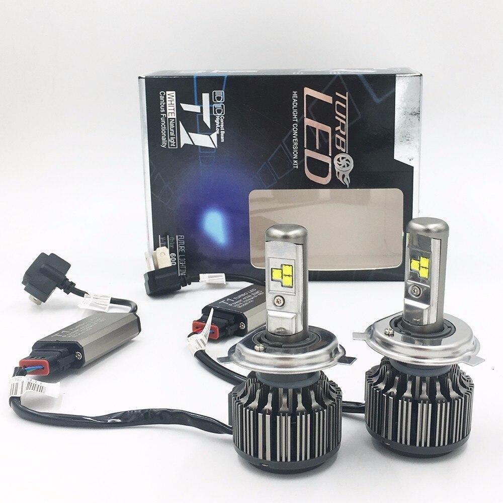 2 шт., автомобильные светодиодсветодиодный лампы H4, 70 Вт, 6000 лм, 6000 K