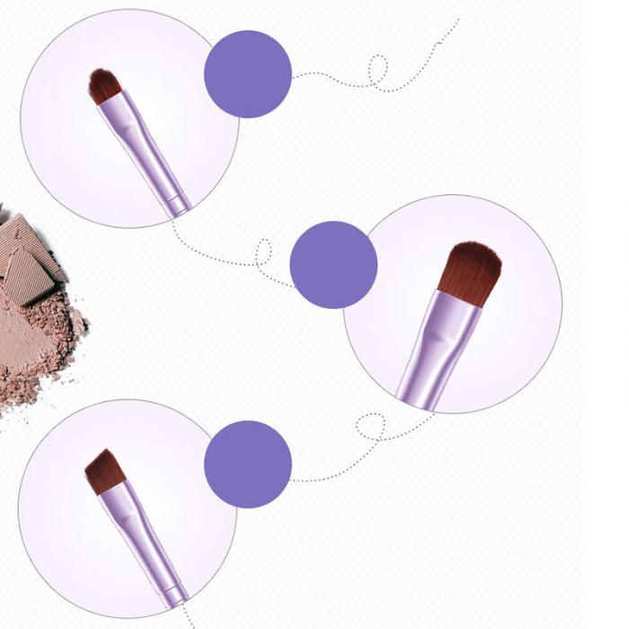 2017 New Hot BIOAQUA 7Pcs Makeup Brushes Set Eye Lip Face Foundation Make Up Brush Kit Soft Fiber Hair Tools Fastshipping WH998 14