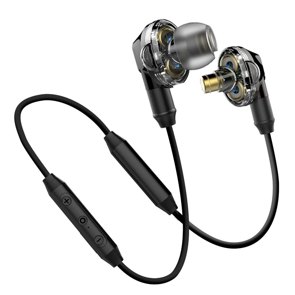 AIPAL In-Ear Bluetooth Earphone Sport Run Wireless Earphones CSR4.1 100mA Dual drive stereo bass with Mic For iPhone Xiaomi in ear earphone 100