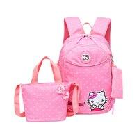 Hello Kitty School backpack For Girls Waterproof backpacks Children Schoolbags Kids Bookbags Suit satchel mochila escolar