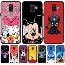Luxury Mickey Stitch DIY For Samsung Galaxy A9 A8 A7 A6 A5 A3 J3 J4 J5 J6 J8 Plus 2017 2018 phone Case Cover Coque Etui