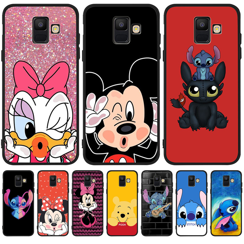 cartoon stitch For <font><b>Samsung</b></font> <font><b>Galaxy</b></font> A9 A8 A7 <font><b>A6</b></font> A5 A3 J3 J4 J5 J6 J8 Plus 2017 2018 <font><b>phone</b></font> <font><b>Case</b></font> Cover Coque Etui silicone soft image