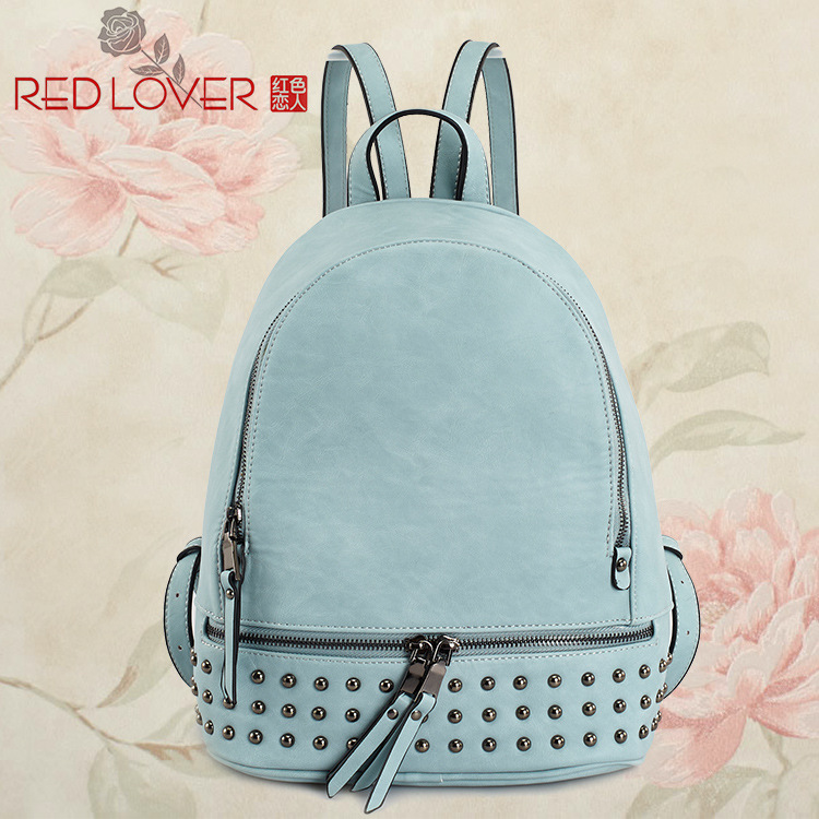 ФОТО 2016 Promotion Mochilas Mochila Feminina Mochila Escolar The New Lover Brand Pu Rivet Backpack Korean Cute Girl Fashion Satchel