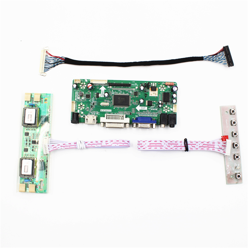 цена M.NT68676.2A Universal HDMI VGA DVI Audio LCD Controller Board for 22inch 1680x1050 M220EW01 V0 4CCFL LVDS Monitor Kit Easy DIY