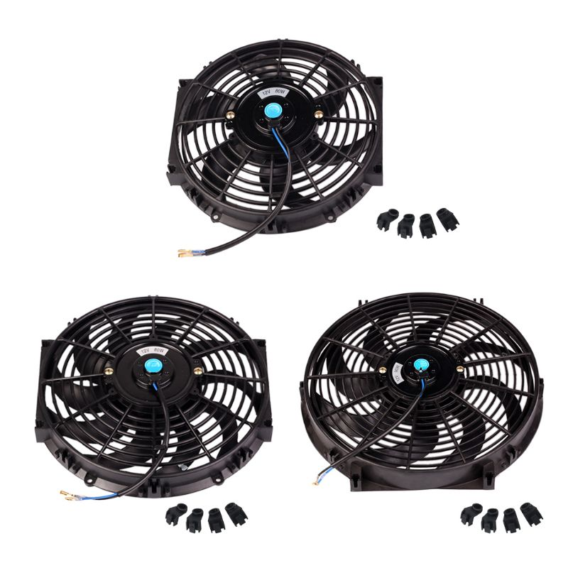10inch 12inch 14inch Universal Car Radiator Fan Slim Push Pull Electric Engine Cooling 12V