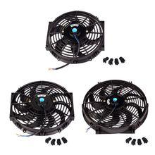 цена на 10inch 12inch 14inch Universal Car Radiator Fan Slim Push Pull Electric Engine Cooling Fan 12V