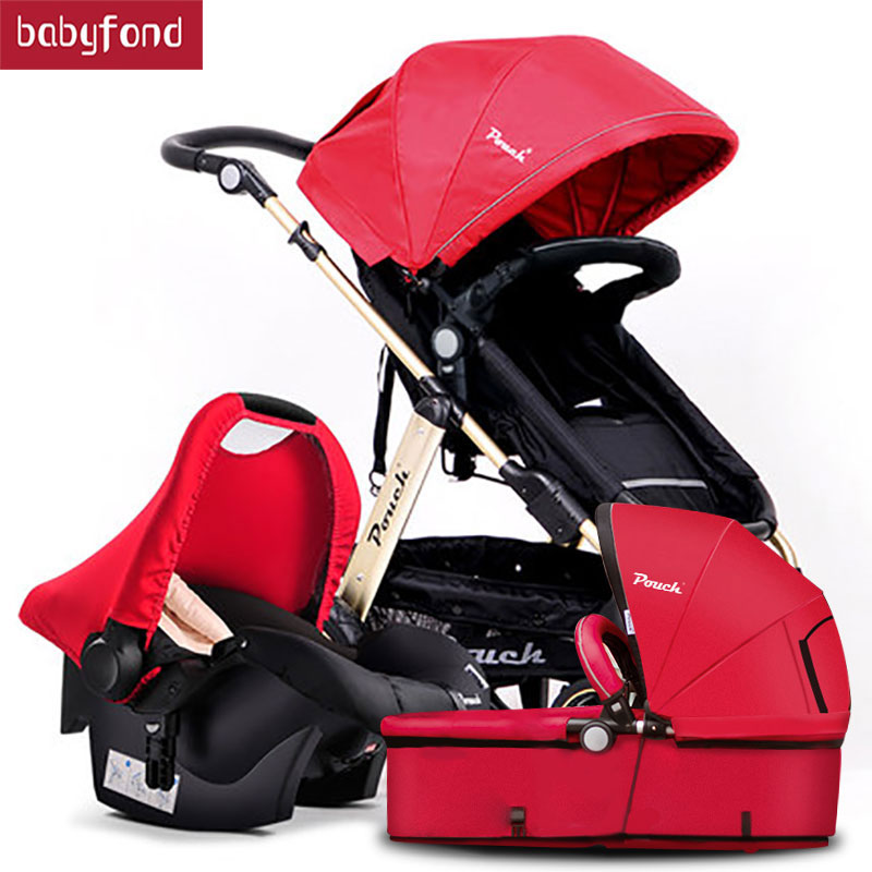 2018 Pouch baby strollers EU standard baby pram 3 in 1 0-36 months baby strollers carriage send free gifts Free shipping free 3 in 1 baby strollers light baby car sleeping basket newborn baby carriage 0 36 months europe baby pram carriage five color