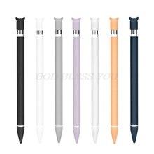 Силиконовый защитный чехол с милыми кошачьими ушками и защитой от прокручивания, защитный чехол для Apple Pencil для iPad Pencil