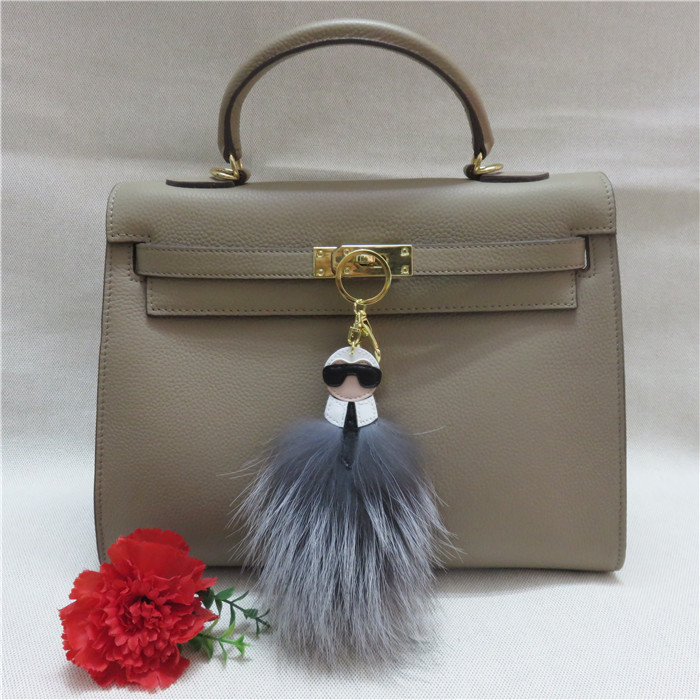Monster Fur Keychain Karl Bag Charm Fox Real Furry Pom Key Chains Genuine Fluffy Cute Keyring Handbag Bugs In From Jewelry