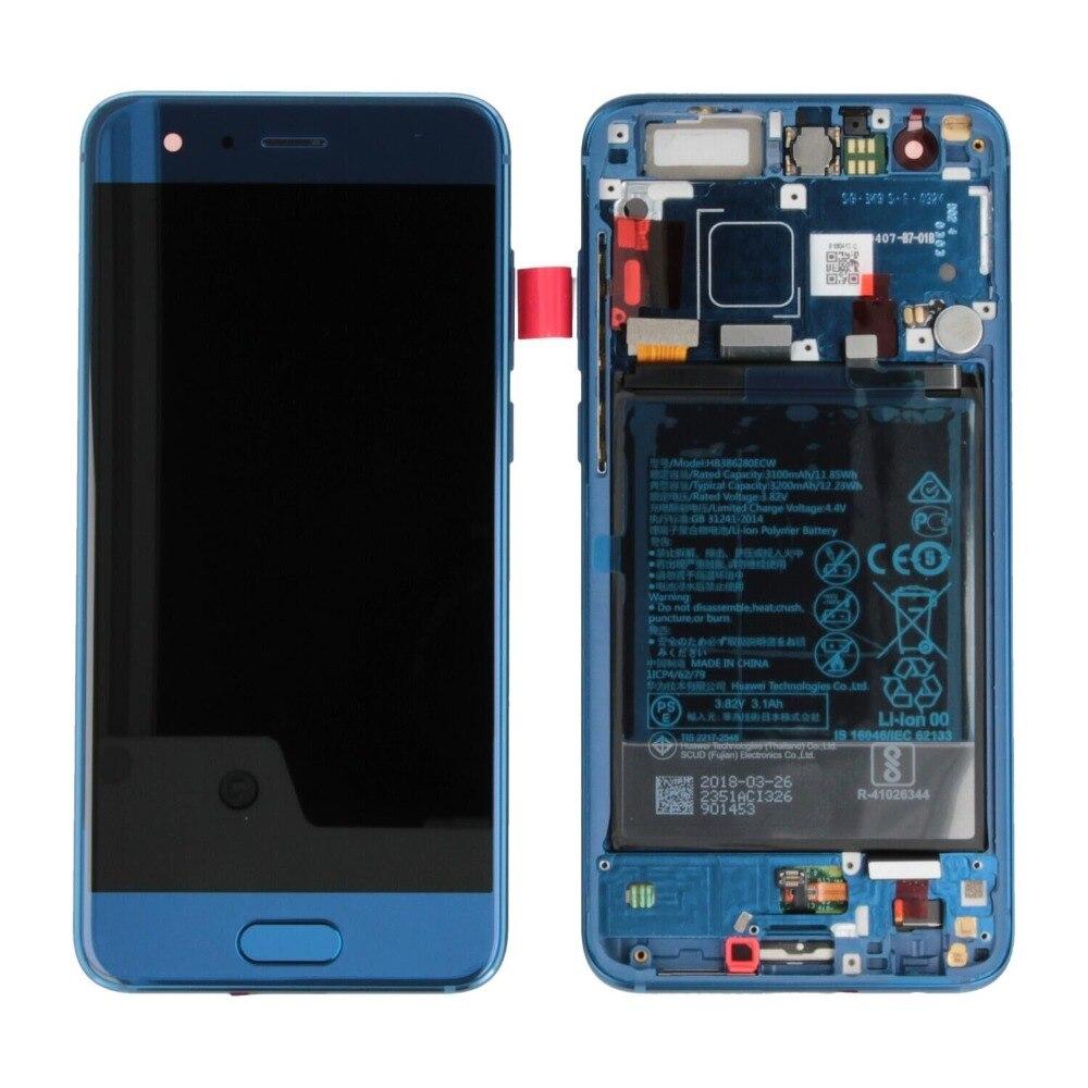 Sinbeda Pas de Pixels Morts LCD Écran Pour Huawei Honor 9 Lcd Panneau de L'écran Tactile Digitizer Assemblée Avec Cadre Remplacement
