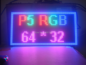 Image 5 - 2019 NEW P5 SMD 3 in 1 RGB Full color Module,Indoor Full color LED Display,P5 RGB LED Panel,320x160mm 64 * 32pixels