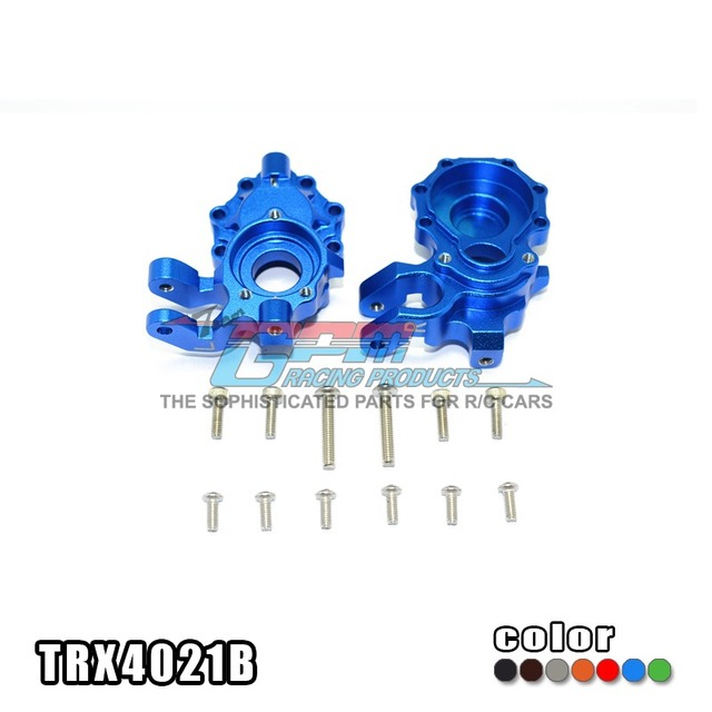 TRAXXAS TRX-4 TRX4 82056-4 Alloy front knuckle arms with stainless steel screw-set TRX4021B free shipping
