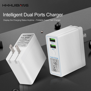 Image 3 - HKHUIBANG 36w usb charger QC 4.0 3.0 mobile phone charger for iPhone /Samsung /Xiaomi fast charger adapter led display