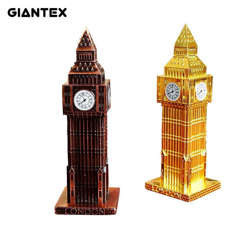 Vintage Decor Metal Craft Retro London Big Ben Model Home Decoration 15.5*5cm U0584