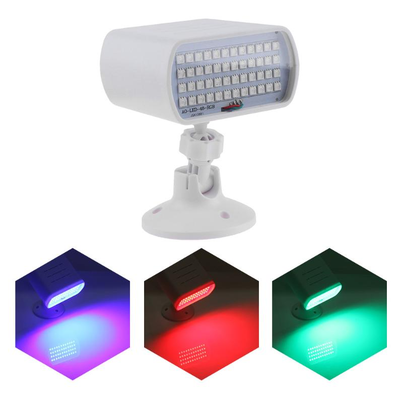 Voice Control Mini 48LED RGB Stage Light Protector Strobe DJ Disco Strobe Light Troboscope Led Stage Light Effect Party Show mipow btl300 creative led light bluetooth aromatherapy flameless candle voice control lamp holiday party decoration gift